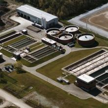 Sarnia Water Pollution Control Centre Aerial Overview