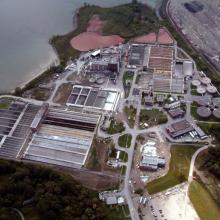 Lakeview Wastewater Treatment Plant Aerial Overview
