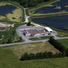 Aerial Overview of Mississippi Mills wastewater treatment plant