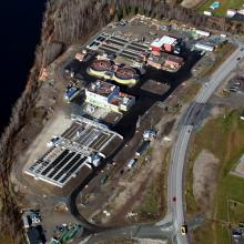Aerial Overview of Mattagami Water Pollution Control Plant