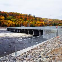 Downstream Timiskaming Ontario Dam