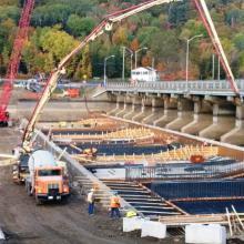 Concrete works for Timiskaming Ontario Dam