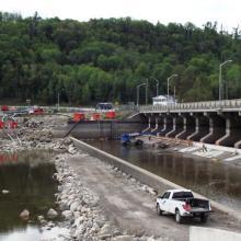 Downstream Timiskaming Ontario Dam