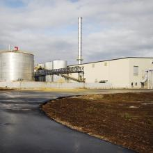 Roadside view of Integrated Grain Processors Cooperative Ethanol Plant