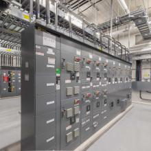 MCC on housekeeping pad within electrical room
