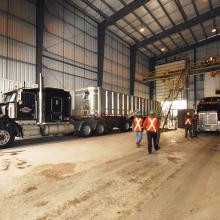 Truck loading bay