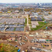Aerial Overview of Jobsite