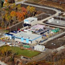 Aerial overview Point Pleasant Water Treatment Plant