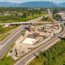 Golden Ears Pump Station and Storage Tank Overhead View