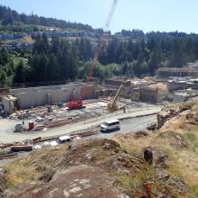 Hilltop Overview of construction for Nanaimo Wastewater Treatment Plant