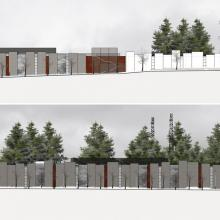 Artistic rendering of construction elevations to be complete